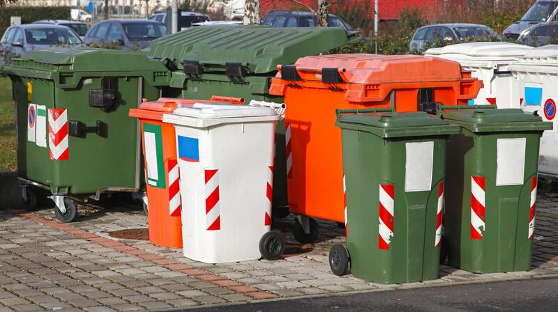 group of dumpsters